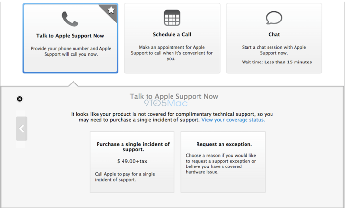 AppleCare (web UI redesign, 9to5Mac 002)