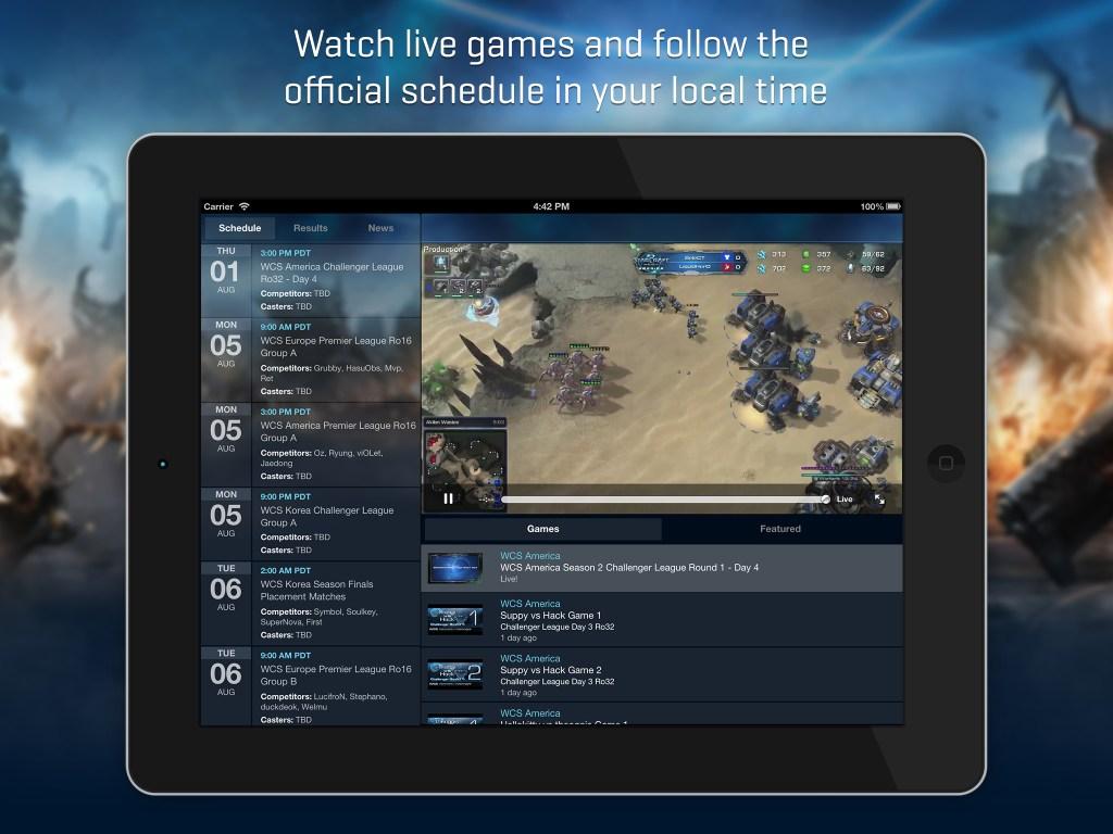 Blizzard WCS 1.0 for iOS (iPad screenshot 001)