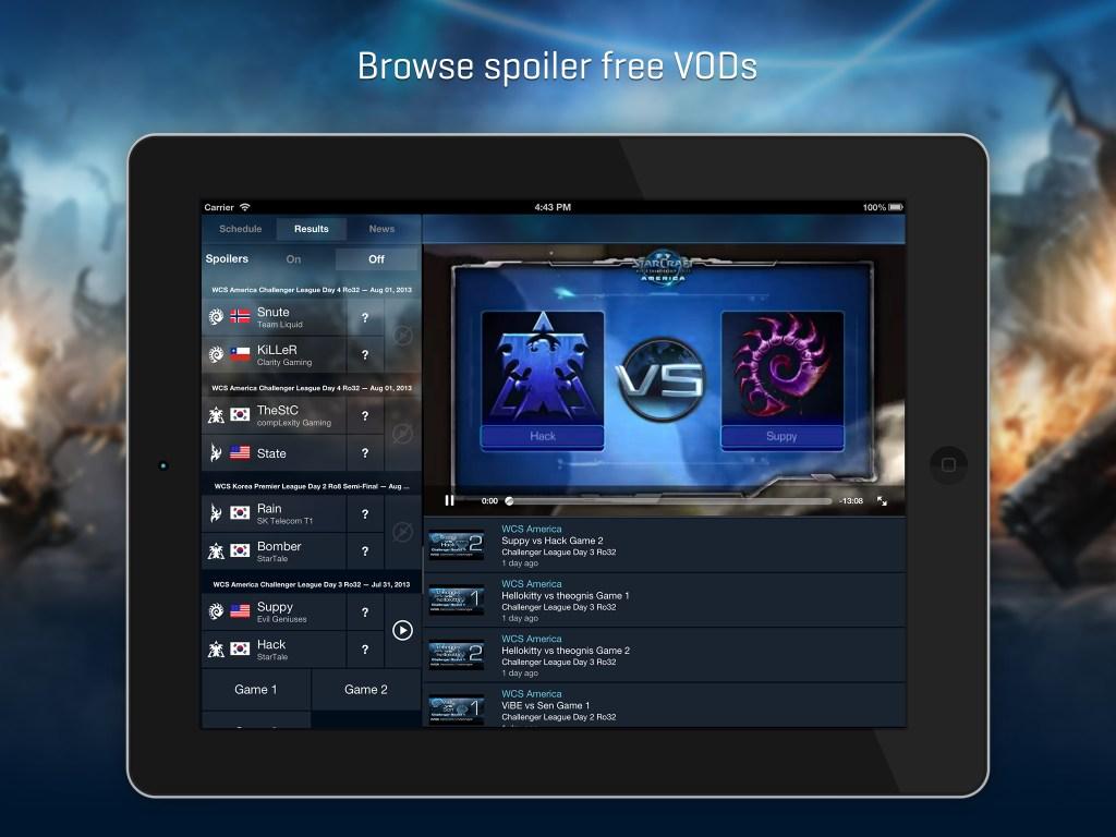 Blizzard WCS 1.0 for iOS (iPad screenshot 002)