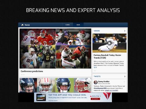 CBS Sports 6.0 for iOS (iPad screenshot 002)