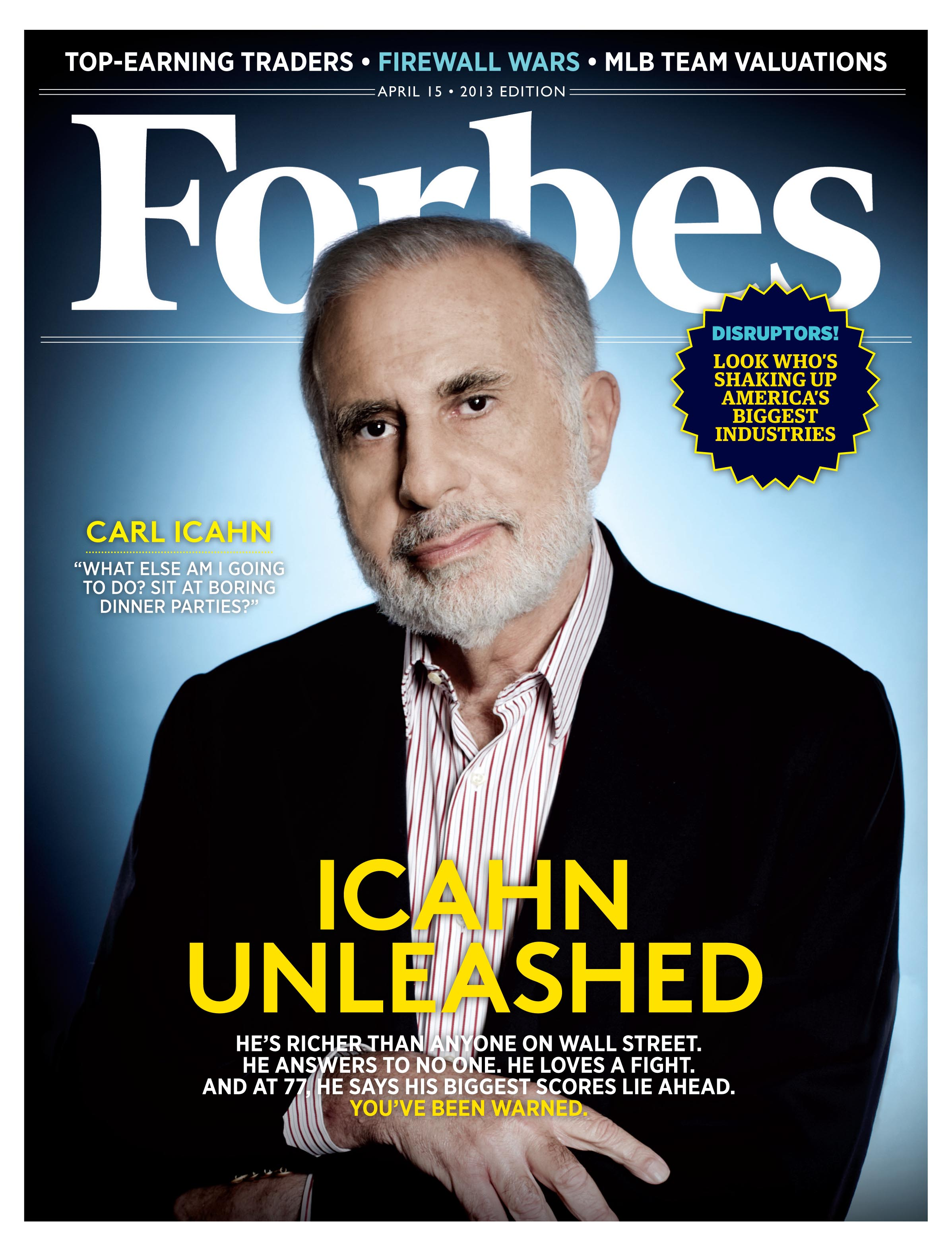 Carl Icahn (April 2013 Forbes cover)