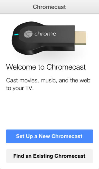 Chromecast 1.0 for iOS (iPhone screenshot 002)