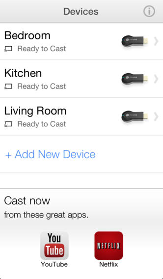 Chromecast 1.0 for iOS (iPhone screenshot 003)
