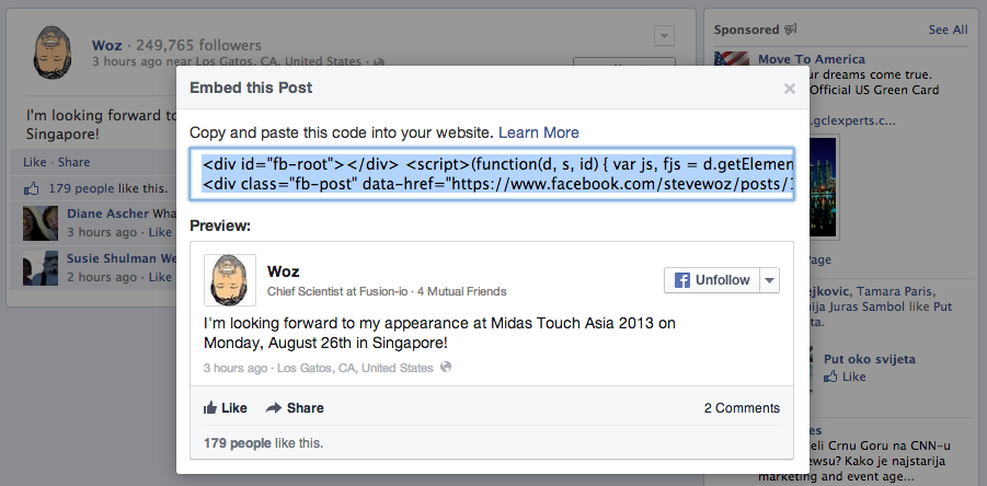 Facebook Embedded Posts (Woz 002)
