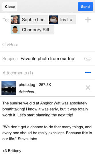 Gmail 2.4 for iOS (iPhone screenshot 001)