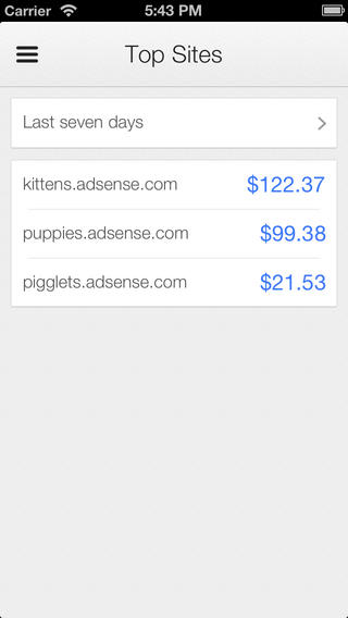 Google AdSense (iPHone screenshot 003)