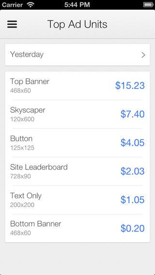 Google AdSense (iPHone screenshot 004)