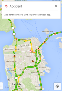 Google Maps (Waze incident reporting)