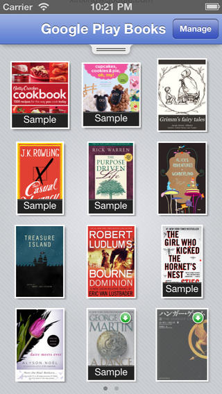 Google Play Books 1.6 for iOS (iPhone screenshot 001)