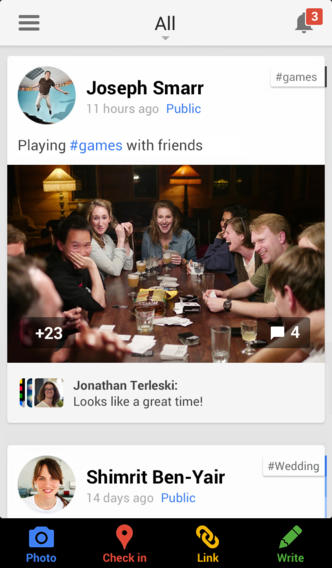 Google Plus 4.5 for iOS (iPhone screenshot 001)