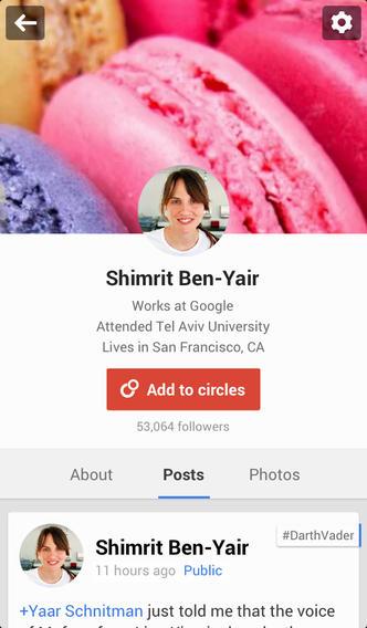 Google Plus 4.5 for iOS (iPhone screenshot 002)
