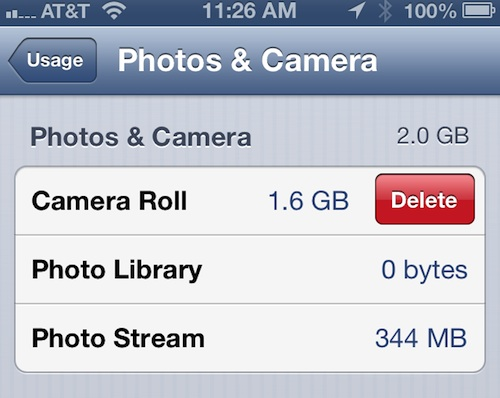 How to delete images from iPhone 1