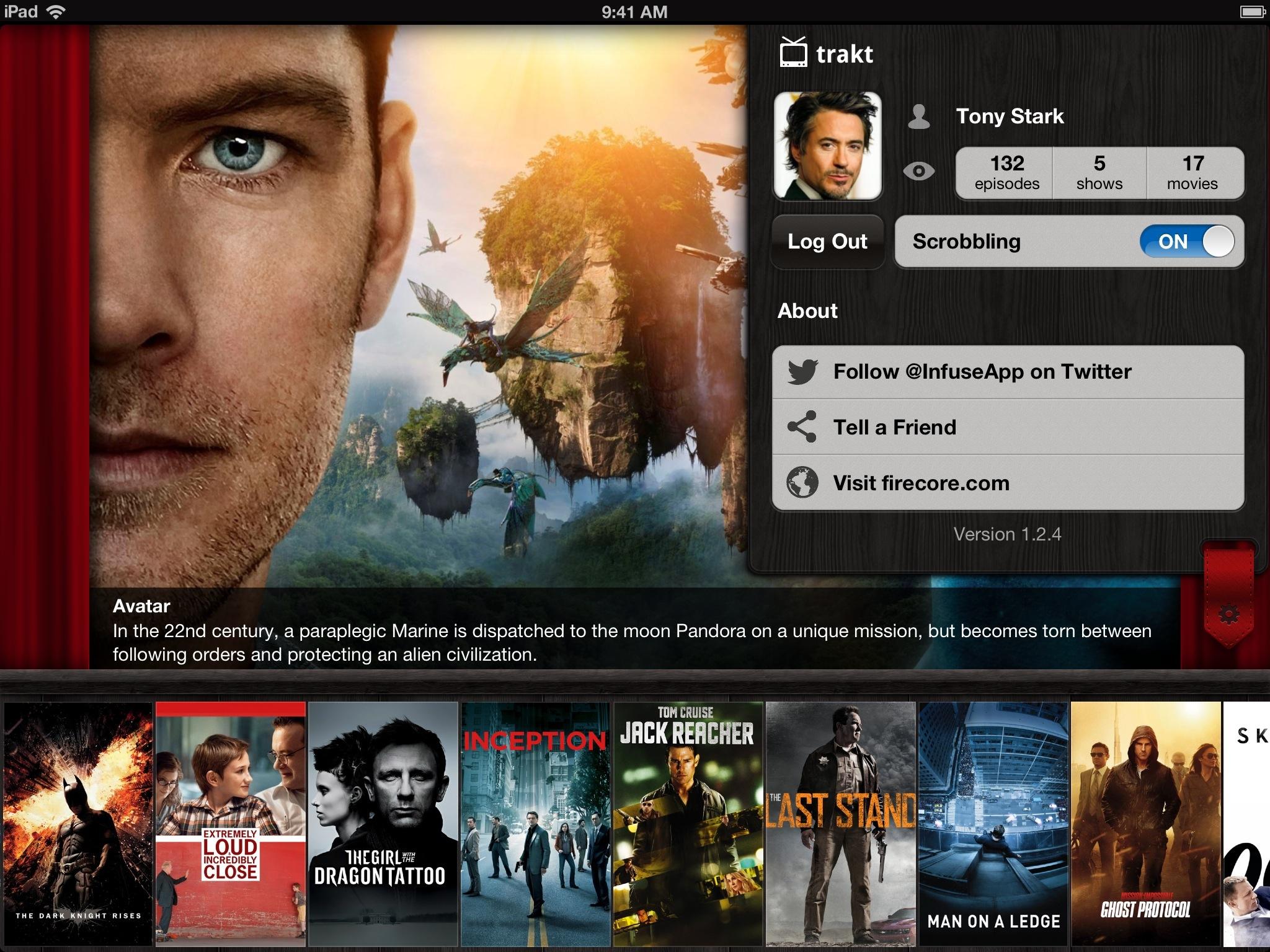 Infuse 1.3 for iOS (iPad Traktr)