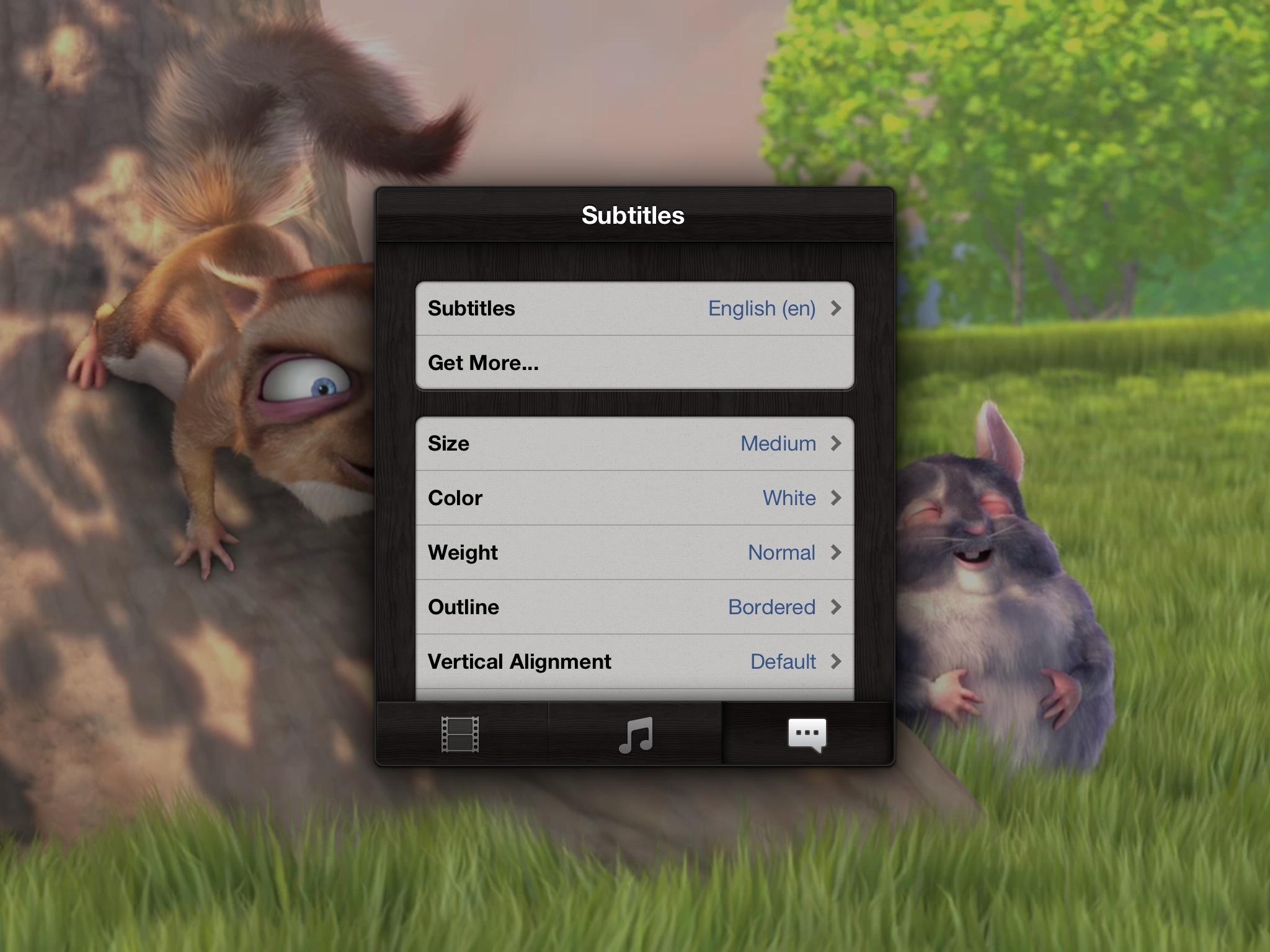 Infuse 1.3 for iOS (iPad subtitles)