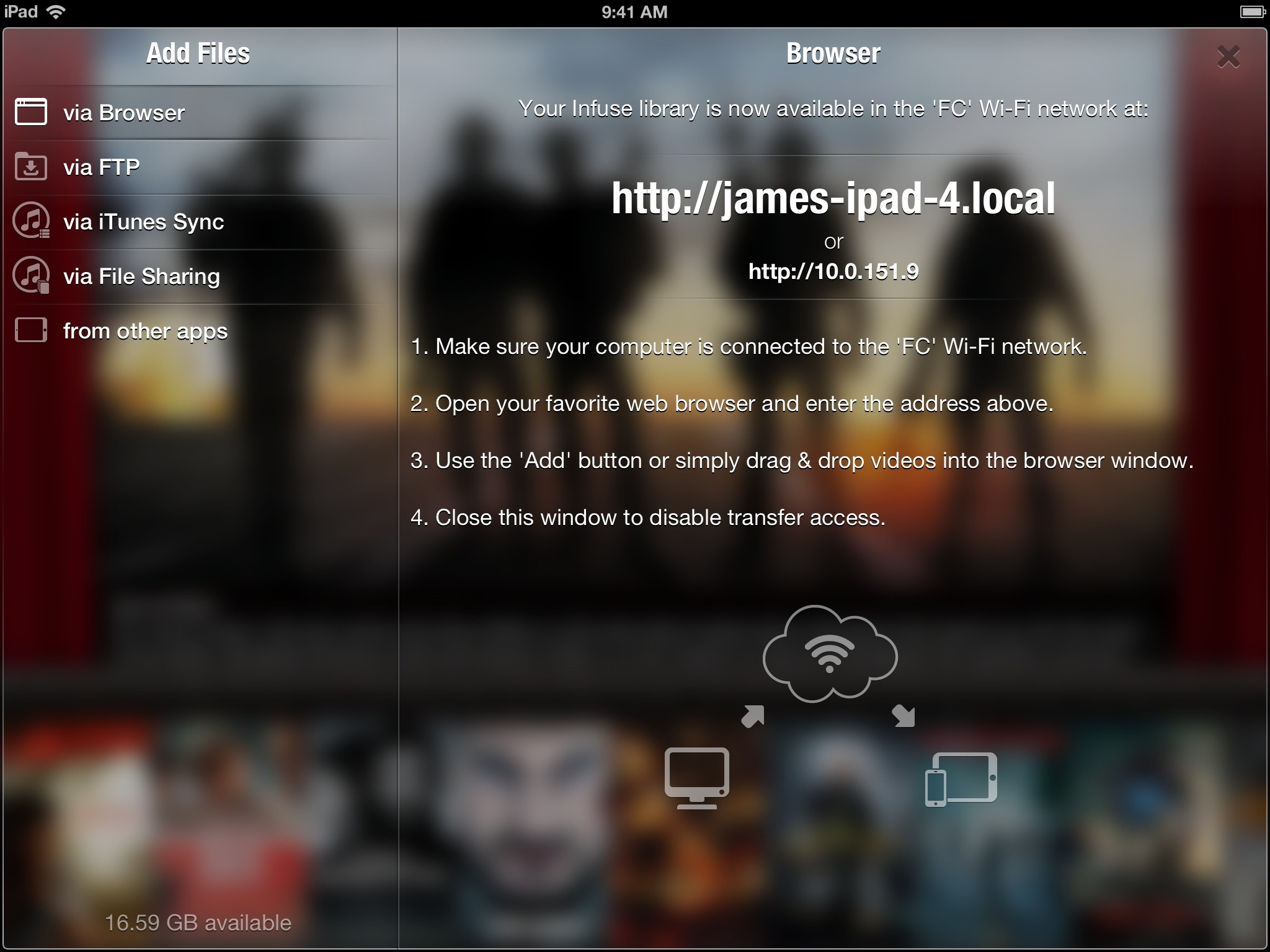 Infuse 1.3 for iOS (iPad upload)
