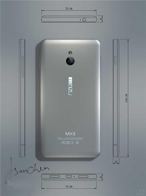 Meizu MX3 (back 001)