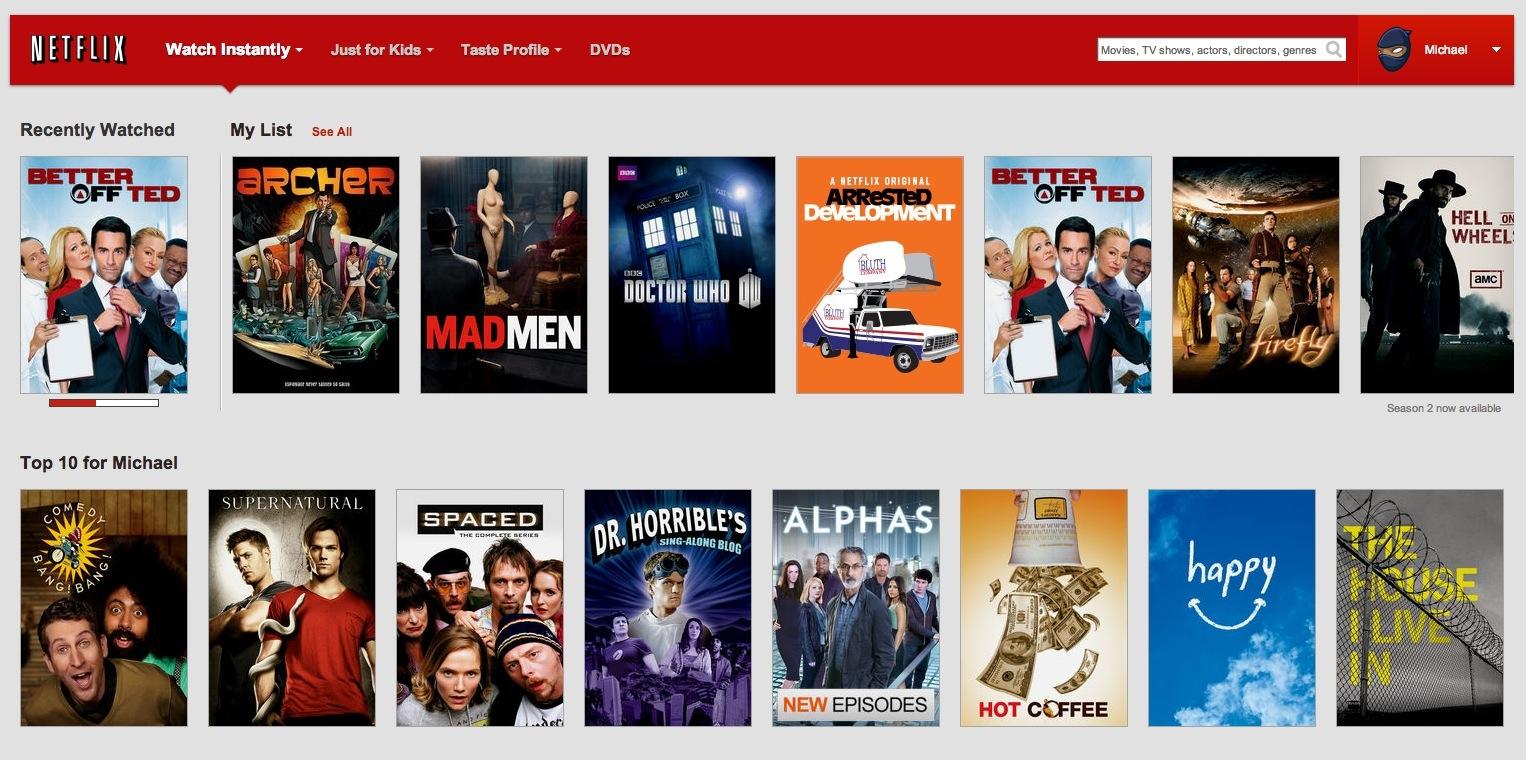 Netflix (My List, web screenshot 001)