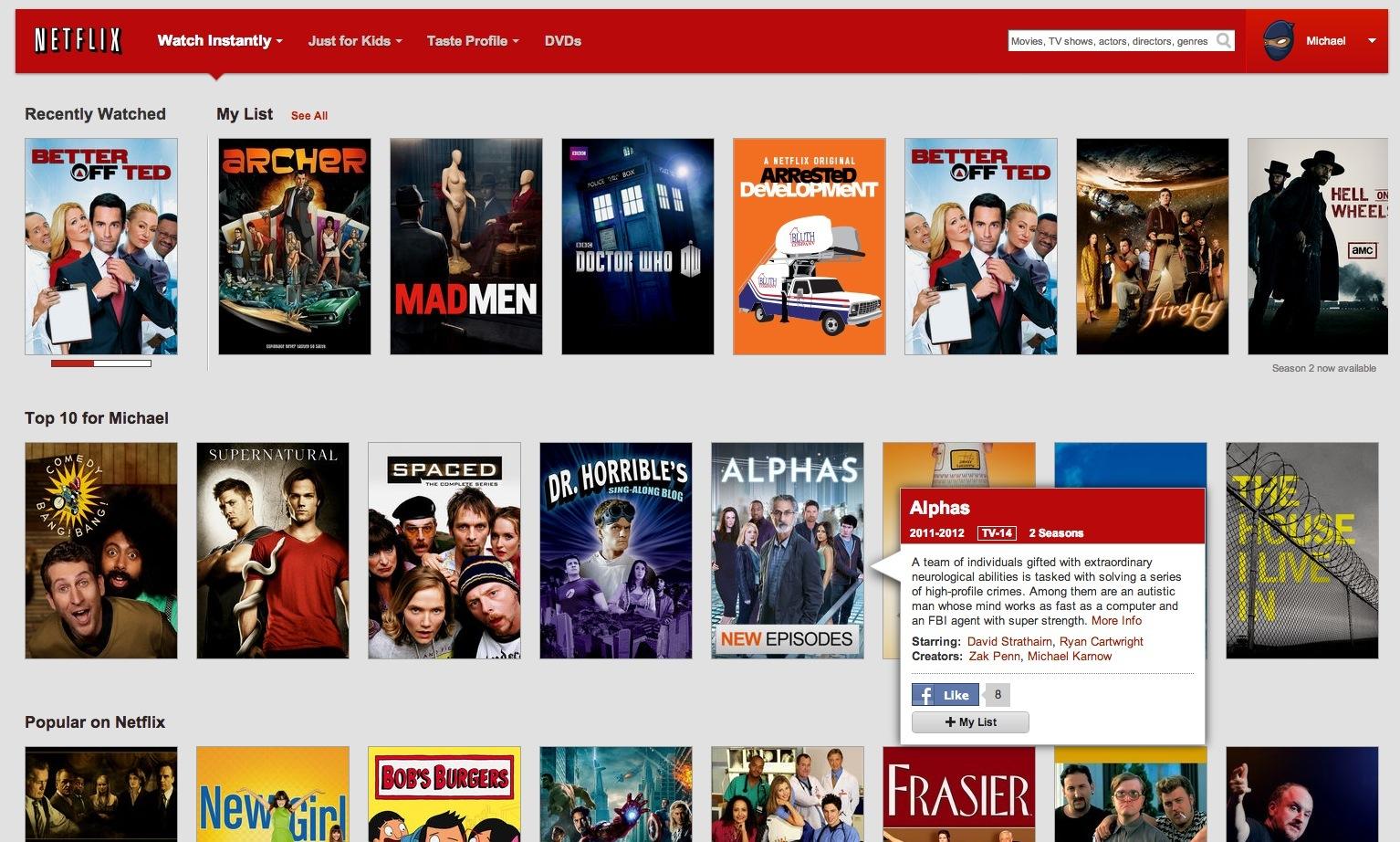 Netflix (My List, web screenshot 002)