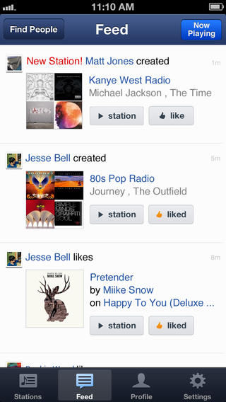 Pandora 4.5 for iOS (iPhone screenshot 002)