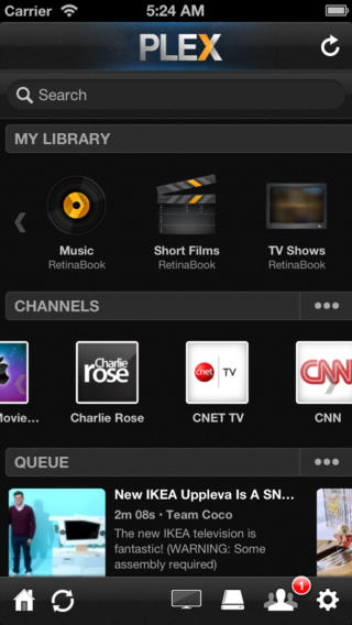 Plex 3.2.4 for iOS (iPhone screenshot 001)