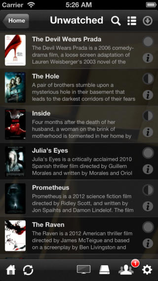 Plex 3.2.4 for iOS (iPhone screenshot 002)