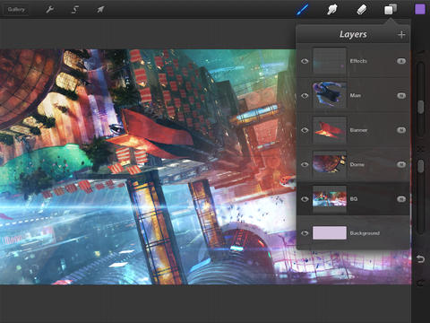 Procreate 1.9 for iOS (iPAd screenshot 001)
