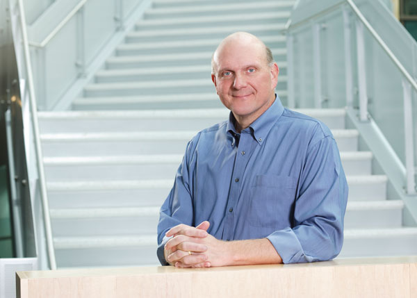 Steve Ballmer (sits at the table)