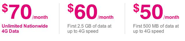 T-Mobile (prepaid plans, 20130831)