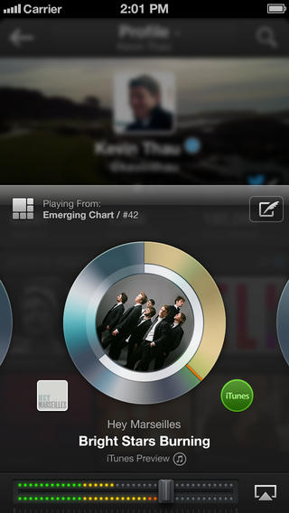 Twitter Music 1.2 for iOS (iPhone screenshot 003)