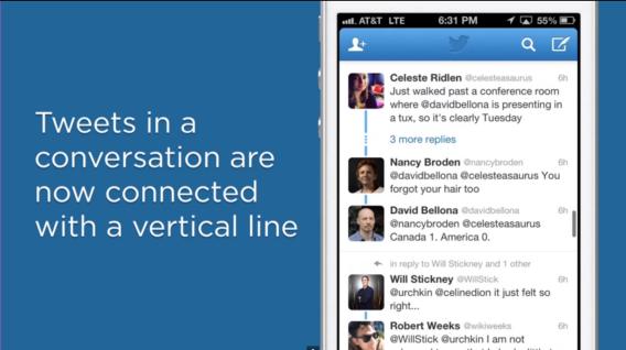 Twitter conversation (blue line, teaser 0010