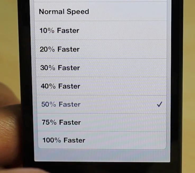 VideoPace Speeds