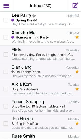 Yahoo Mail 1.5.9 for iOS (iPhone screenshot 004)