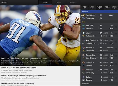 Yahoo Sports (iPad screenshot 001)