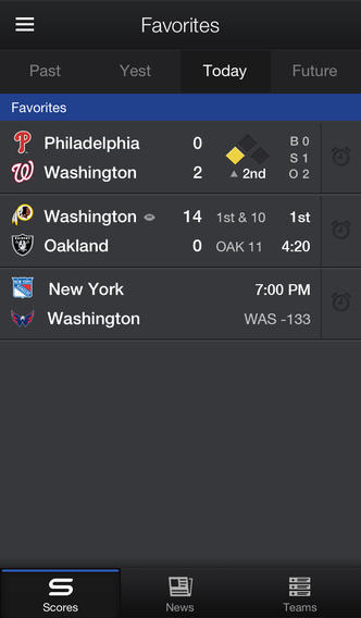 Yahoo Sports (iPhone screenshot 001)