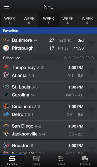 Yahoo Sports (iPhone screenshot 003)
