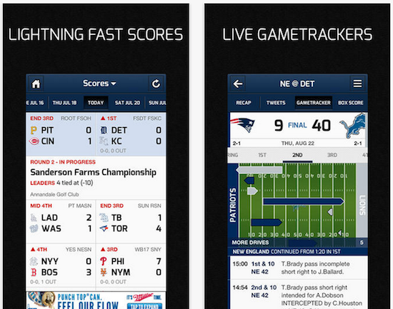 cbs sports app updated with new football gametracker power rankings