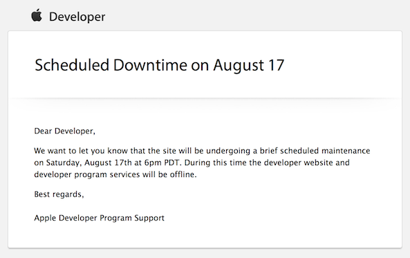 dev down apple