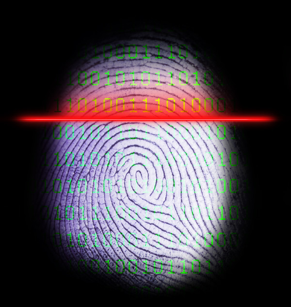 fingerprint scan black