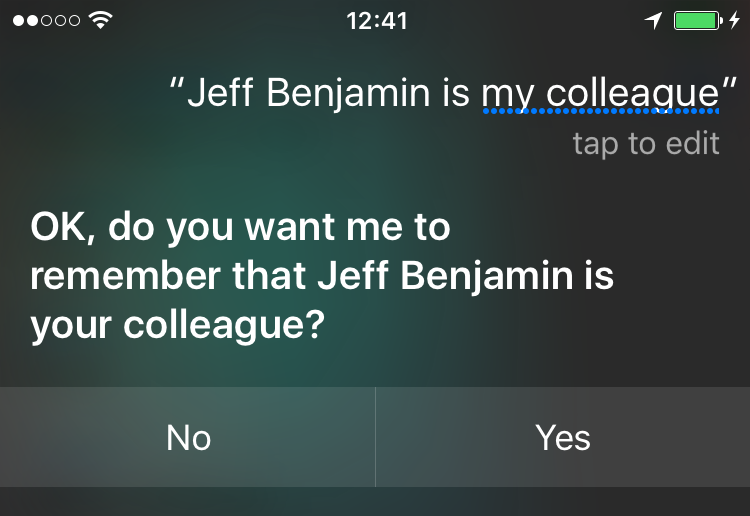 get siri to know friends