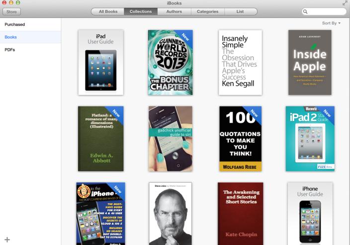 iBooks for OS X Mavericks (Collections)