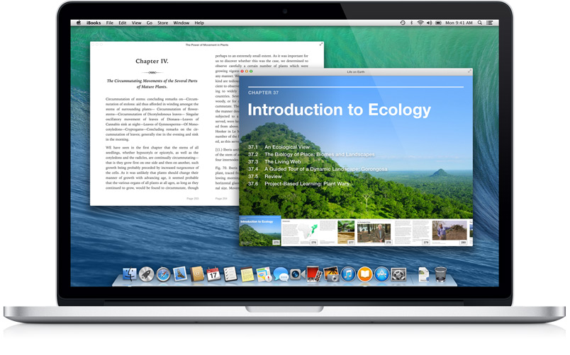iBooks for OS X Mavericks (Multiple books)