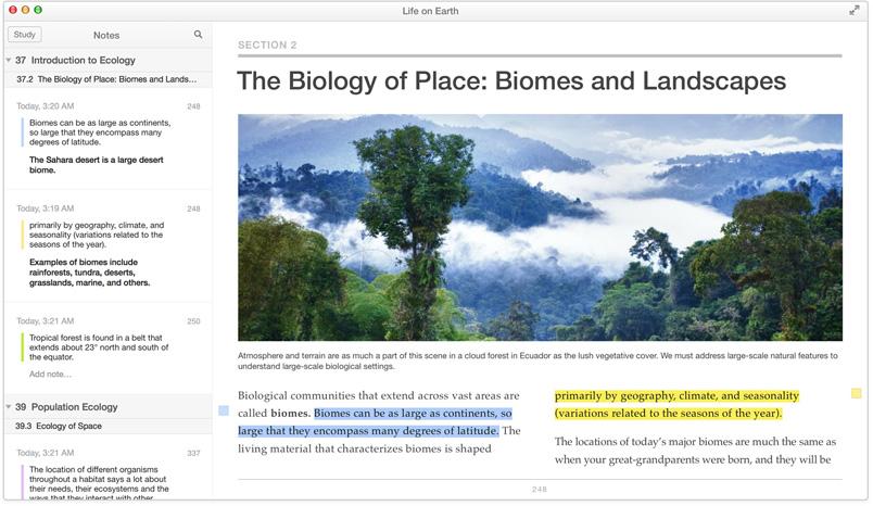 iBooks for OS X Mavericks (Textbooks 001)