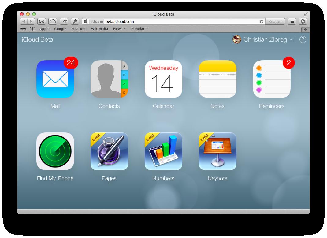iCloud Beta (redesign 002)