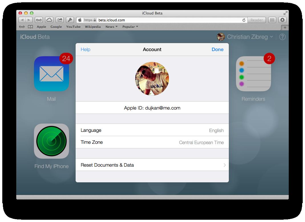 iCloud Beta (redesign 003)