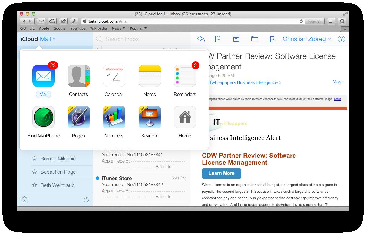 iCloud Beta (redesign 006)
