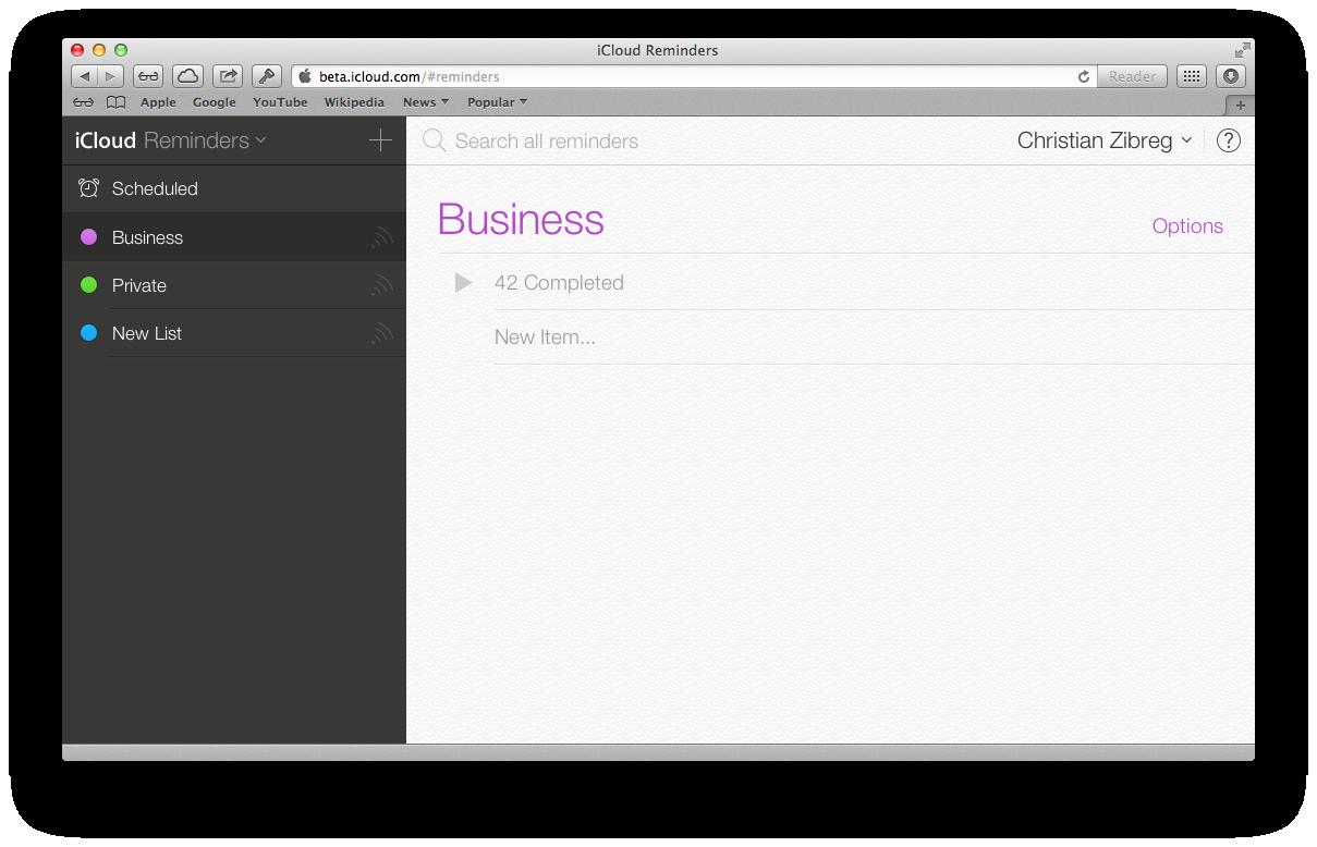 iCloud Beta (redesign 010)