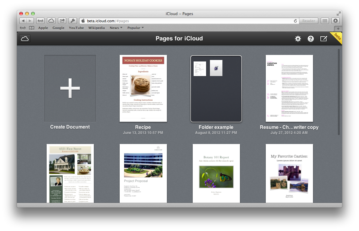 iCloud Beta (redesign 012)