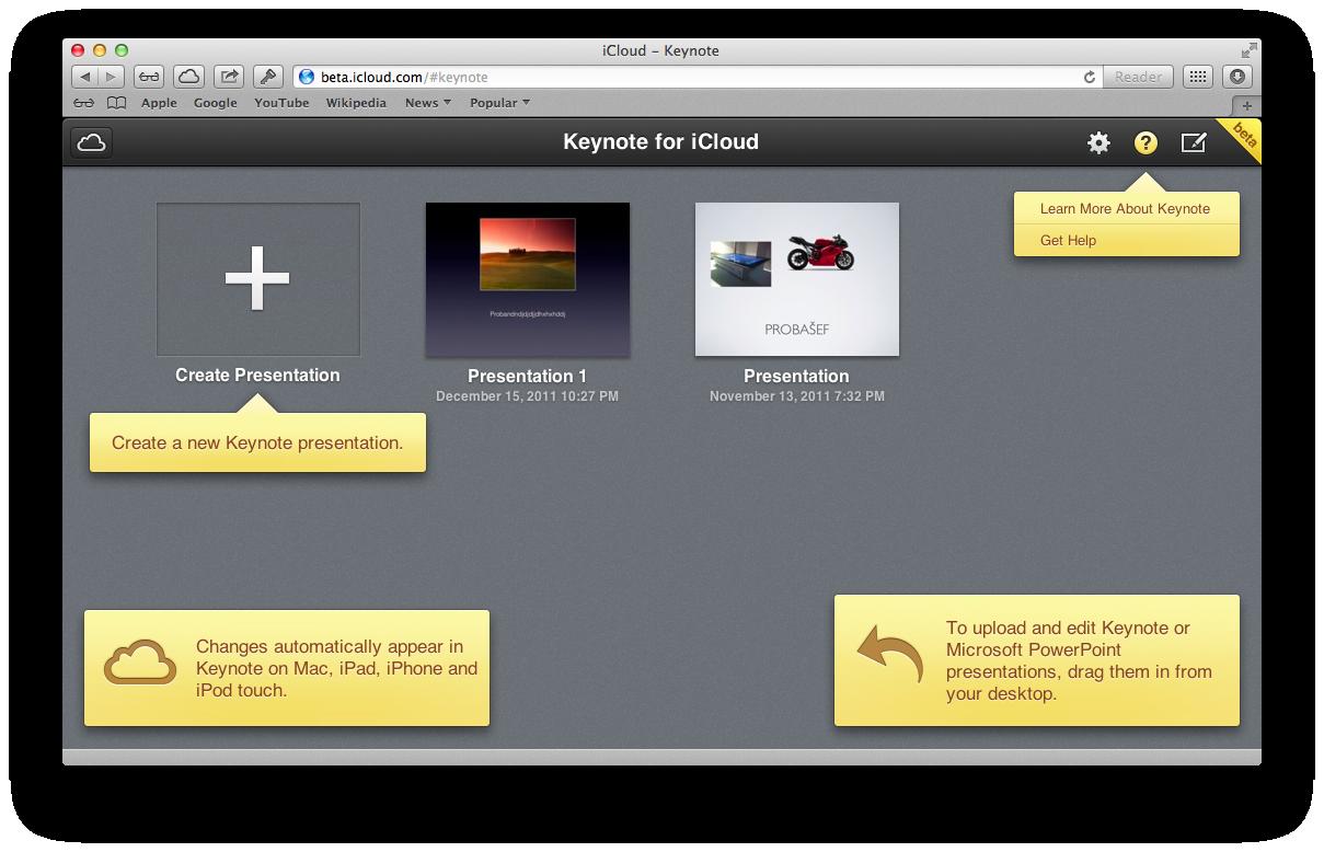 iCloud Beta (redesign 015)