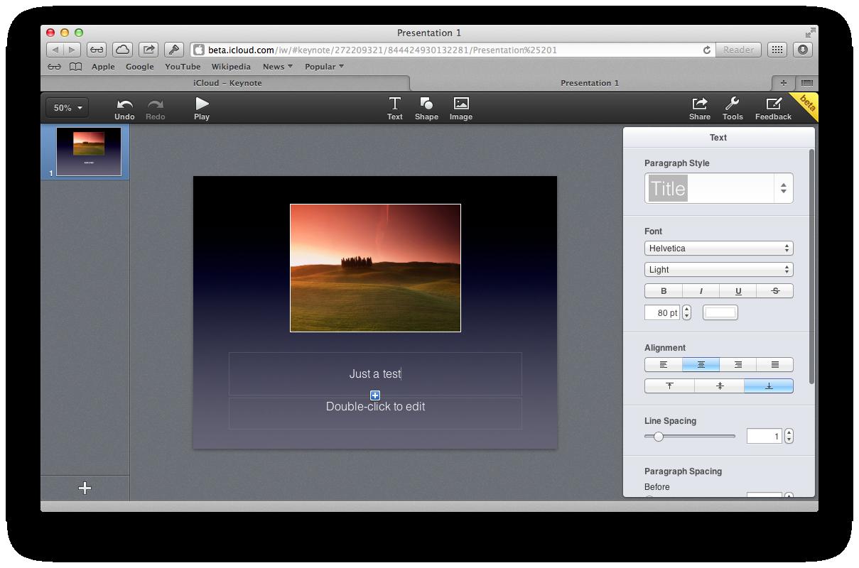 iCloud Beta (redesign 016)