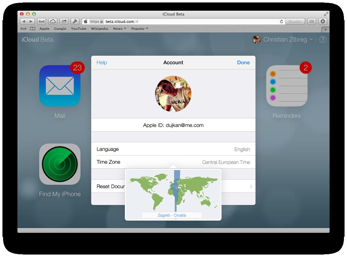 iCloud Beta (redesign 019)